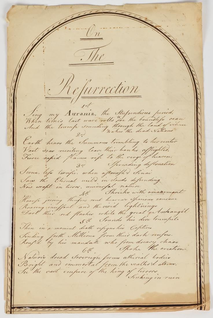 Anonymous Manuscript Poem, Attleborough, 1794