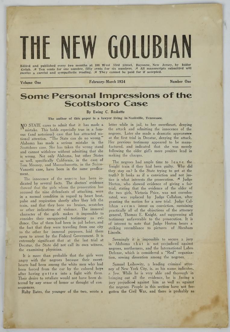 Important 1934 Civil Rights Newspaper