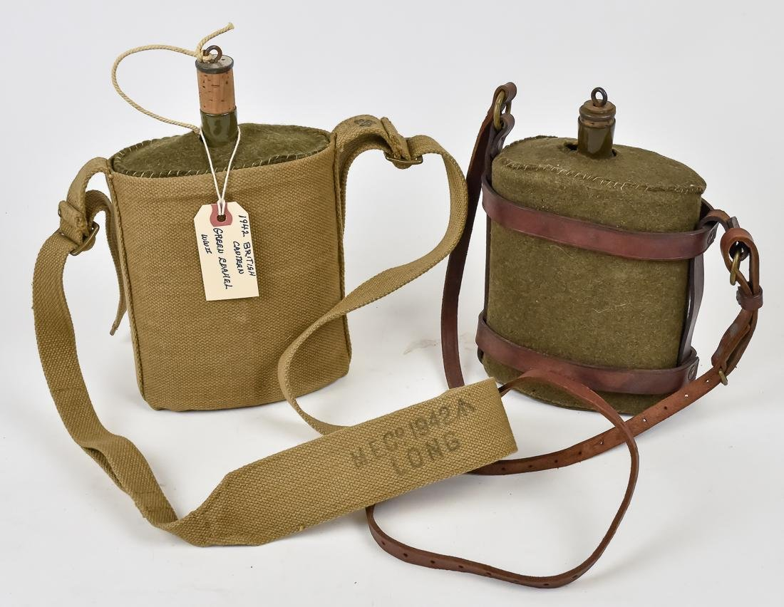 Two WWII British Army Canteens