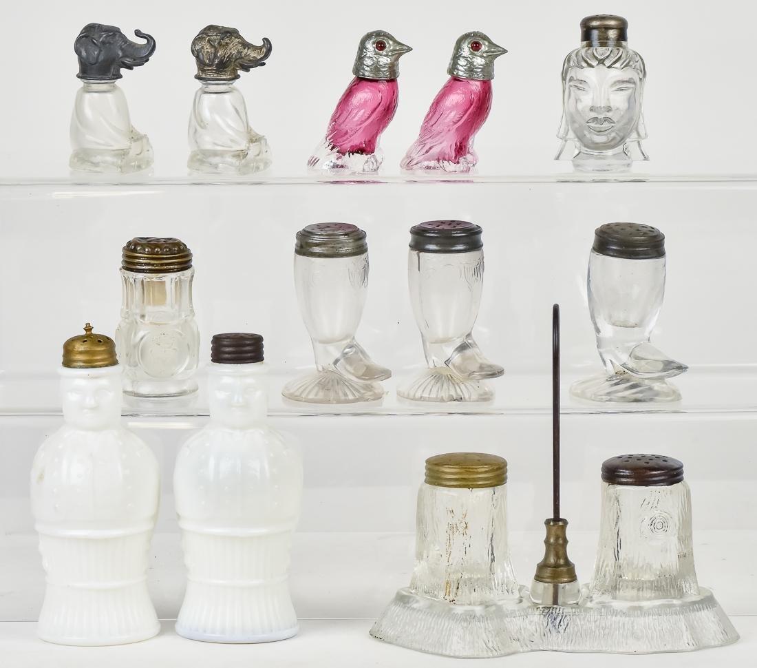 Victorian Pattern Glass Salt & Pepper Castors