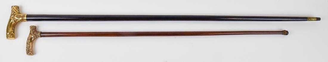 Two Gold Filled Victorian Canes