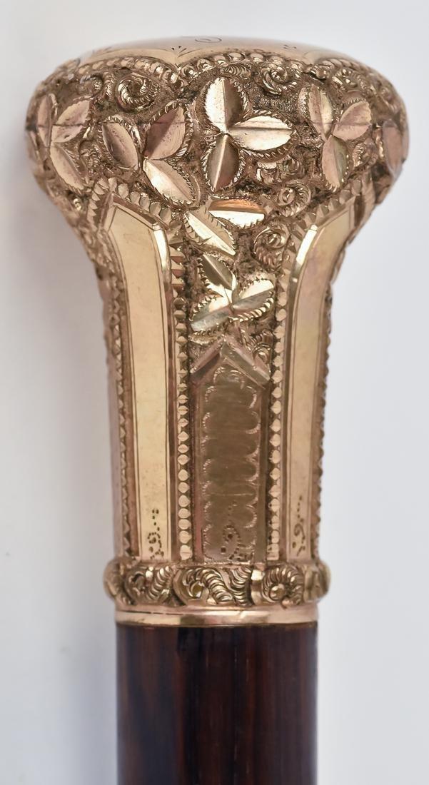 Two Victorian Gold Filled Knob Walking Sticks - 3