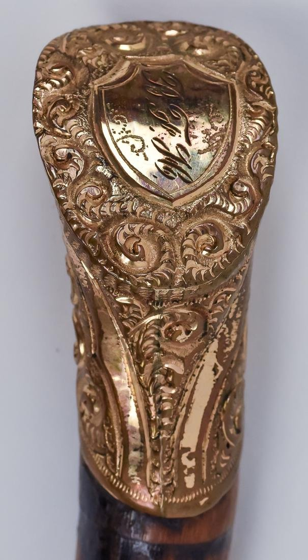 Two Victorian Gold Filled Canes - 3