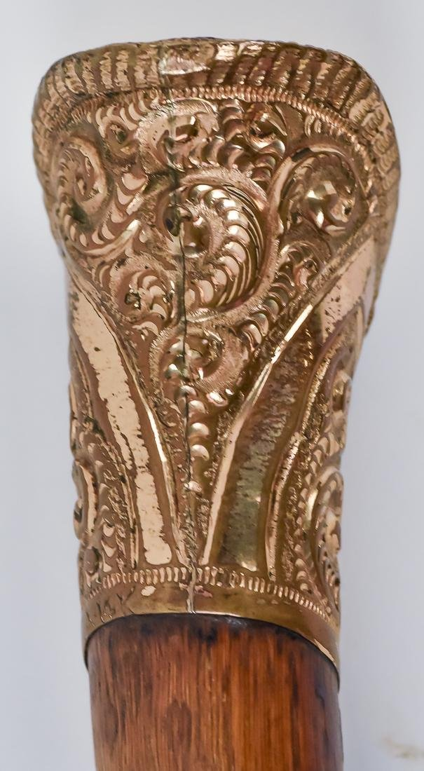 Two Victorian Gold Filled Canes - 4
