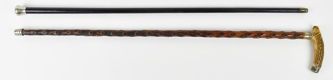 Two Silver Mounted Canes - 2