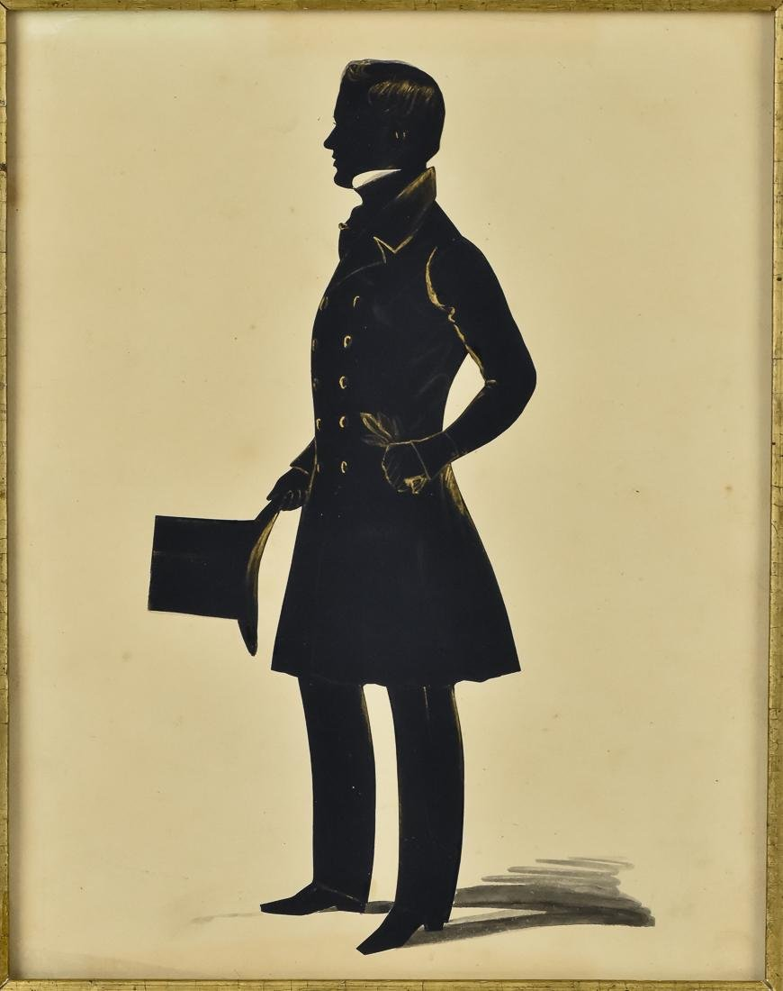Silhouette of Young Gentleman - 2