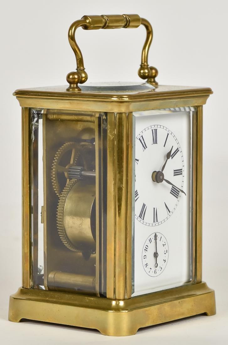 Fine Brass Carriage Clock - 4