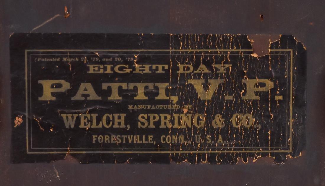Welch Patti V.P. Rosewood Clock - 10