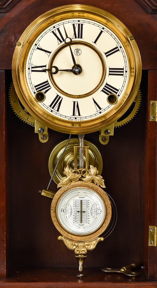 F. Kroeber Walnut Shelf Clock - 3