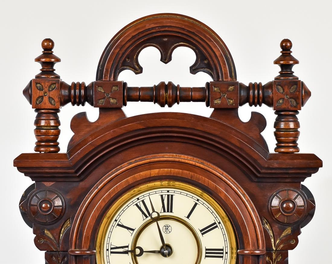 F. Kroeber Walnut Shelf Clock - 4