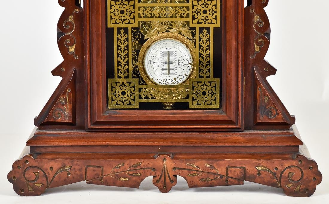 F. Kroeber Walnut Shelf Clock - 5