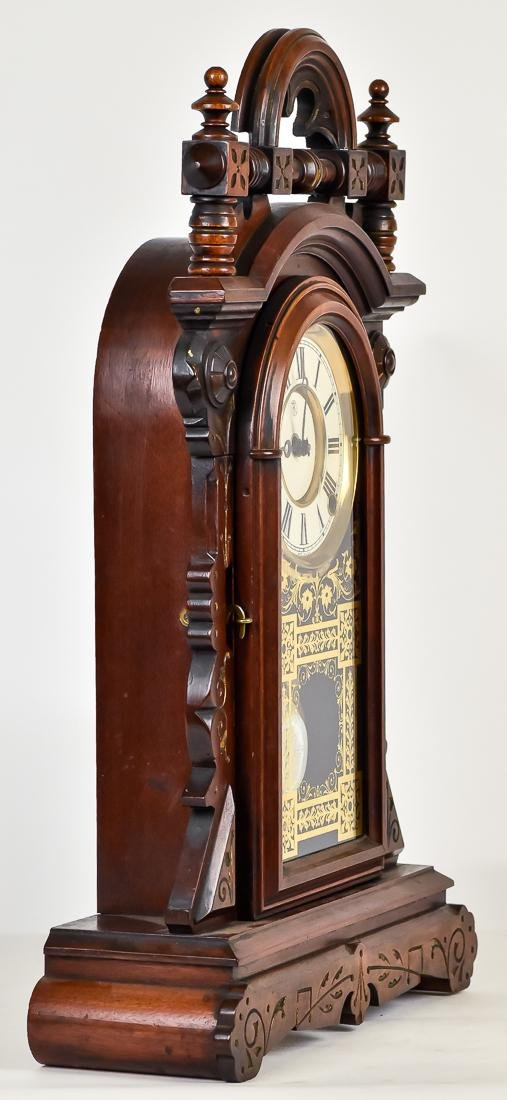 F. Kroeber Walnut Shelf Clock - 7