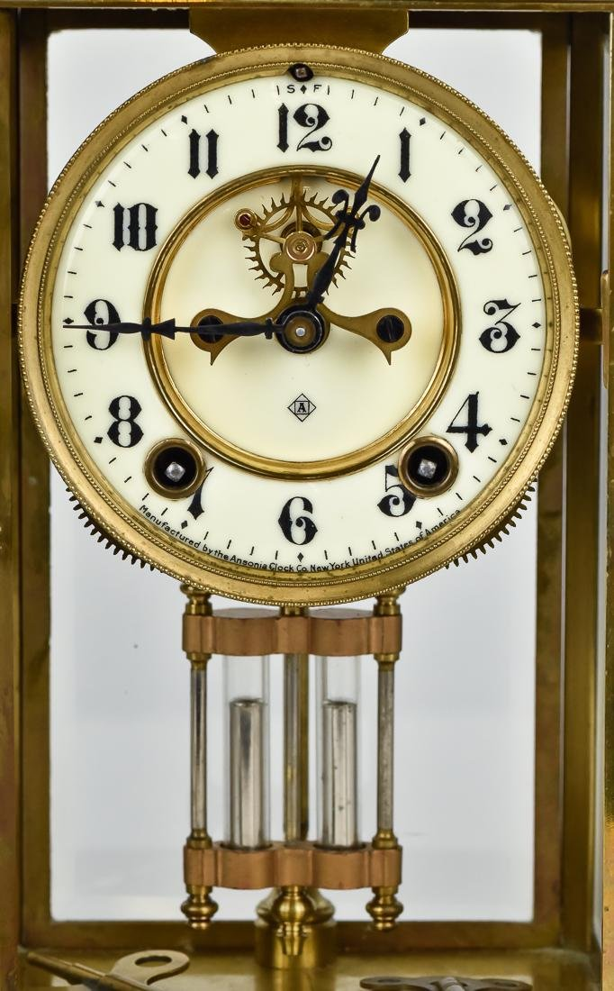 Ansonia Crystal Regulator Clock - 5