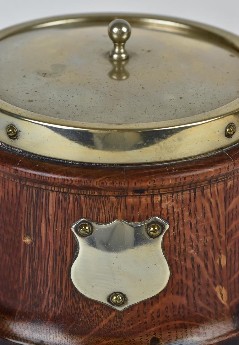 Two Oak Biscuit Jars - 5