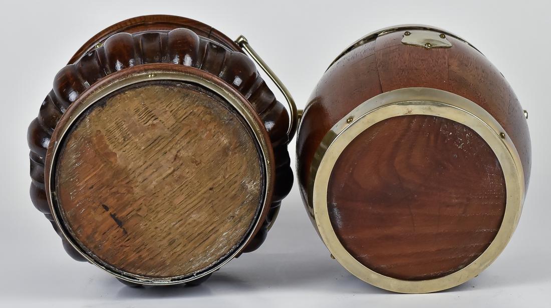 Two Oak Biscuit Jars - 9