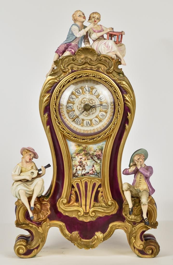 Fine French Porcelain Shelf Clock