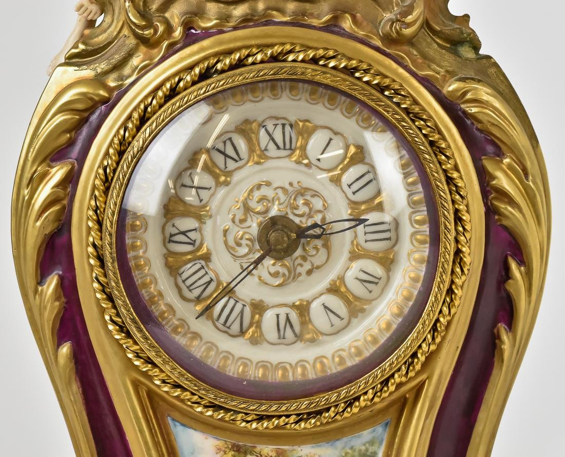 Fine French Porcelain Shelf Clock - 2