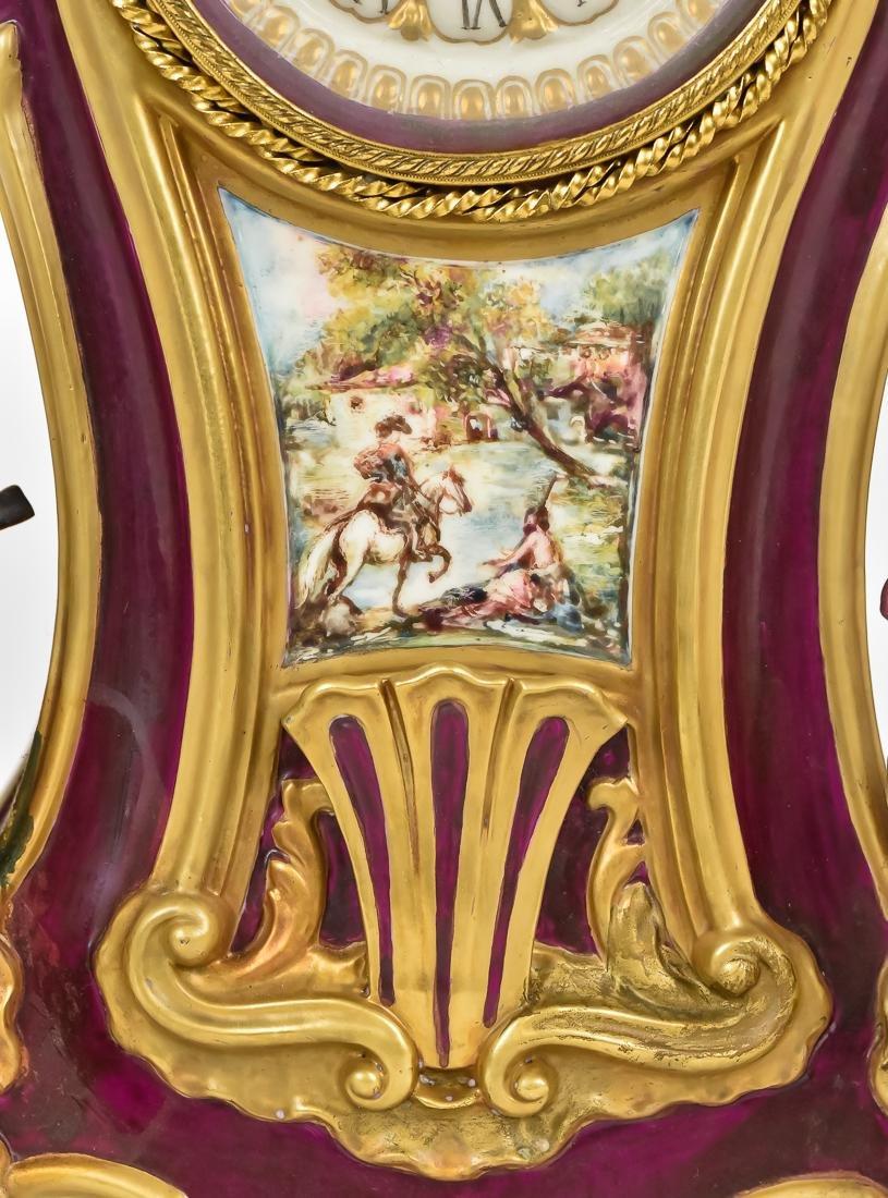 Fine French Porcelain Shelf Clock - 3