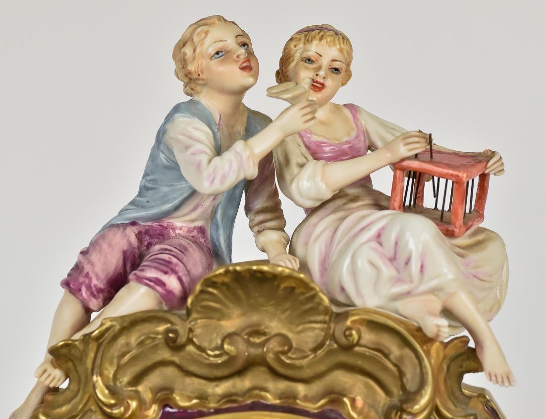 Fine French Porcelain Shelf Clock - 6