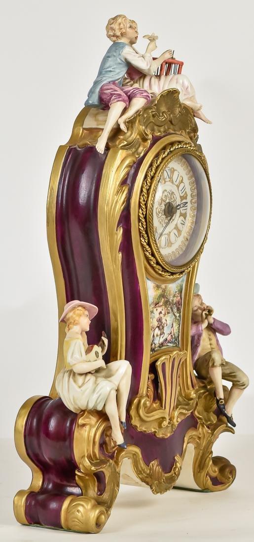 Fine French Porcelain Shelf Clock - 8