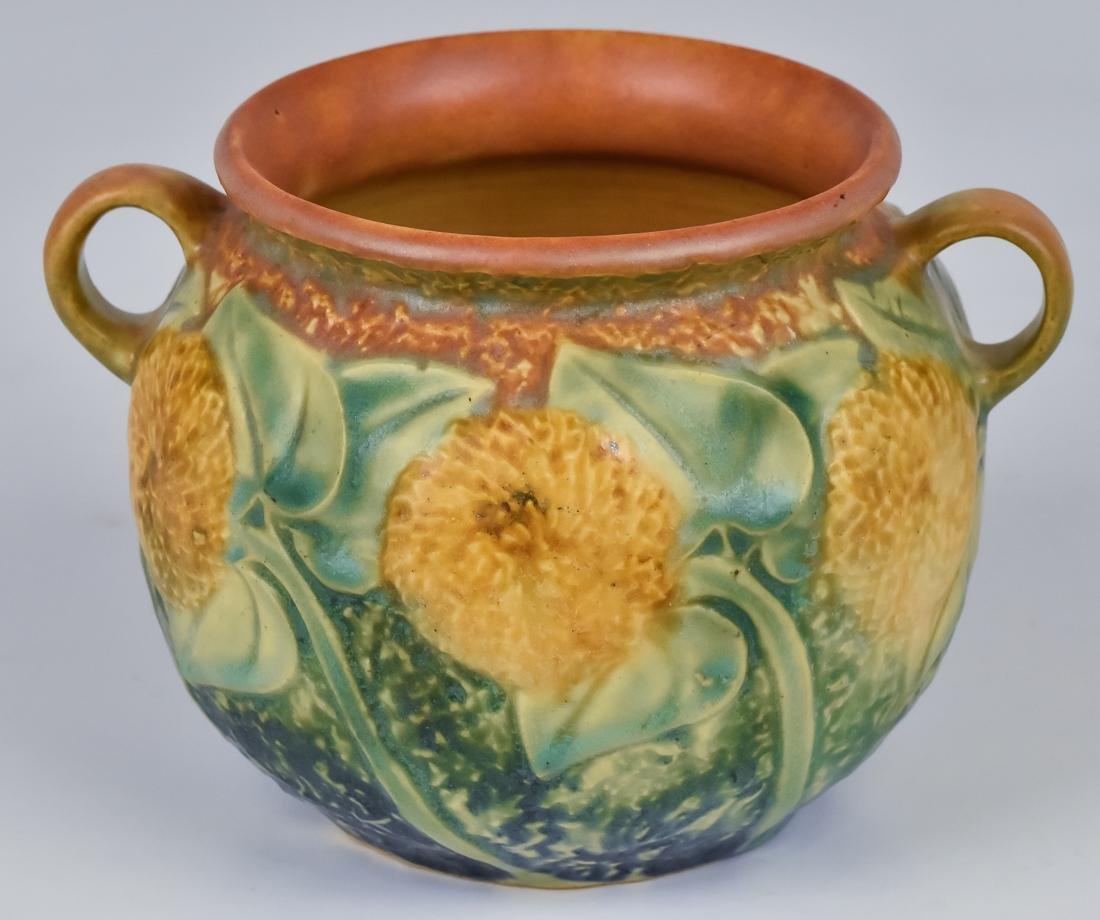 Roseville Sunflower Vase - 2
