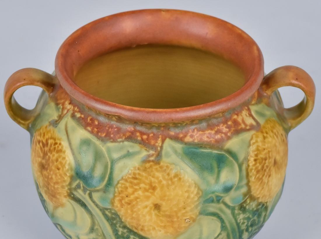 Roseville Sunflower Vase - 5