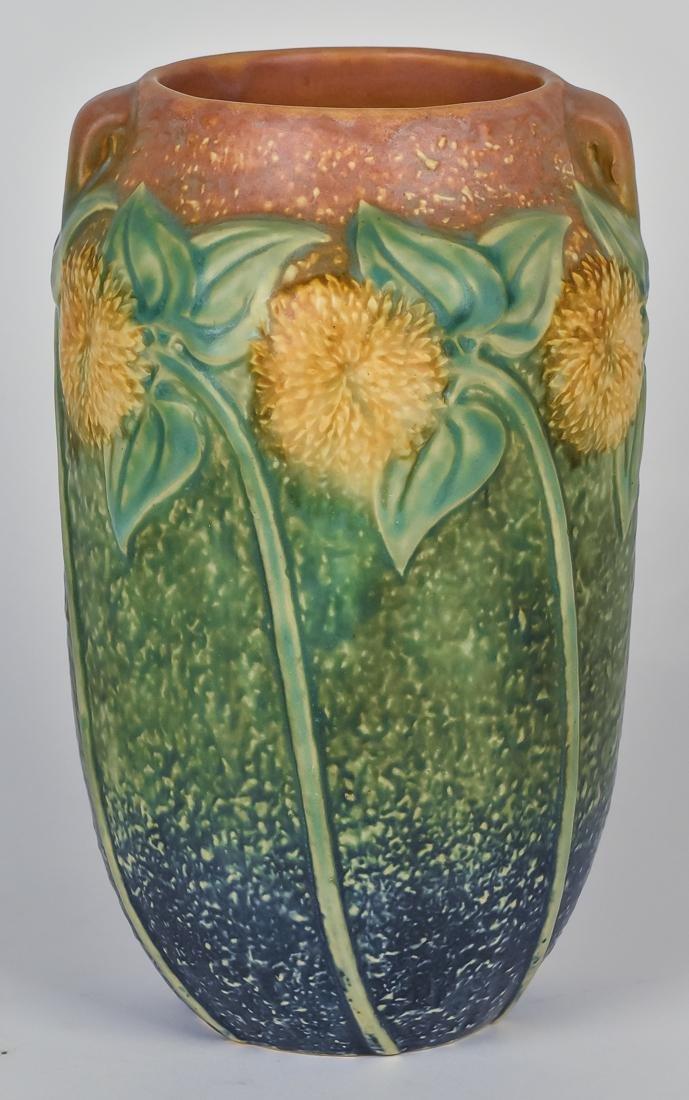 Large Roseville Sunflower Vase