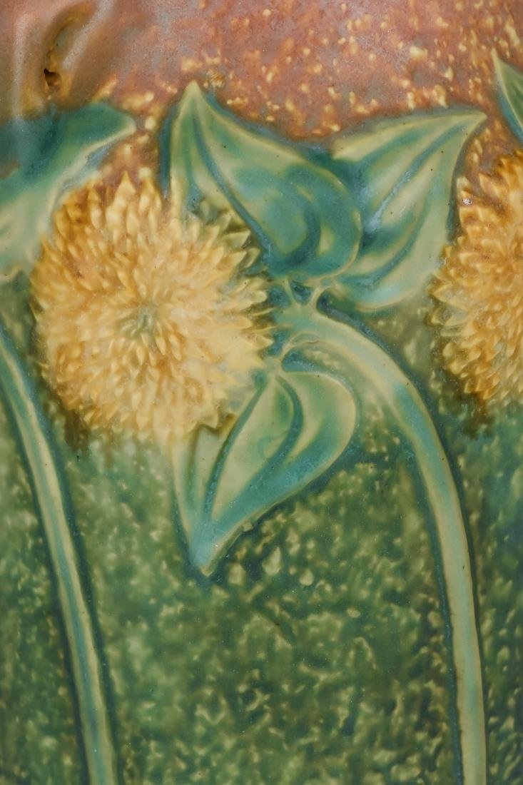 Large Roseville Sunflower Vase - 5