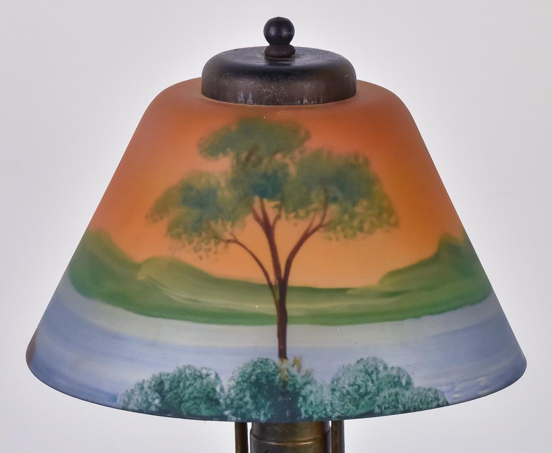 Arts & Crafts Reverse Painted Boudoir Lamp - 3
