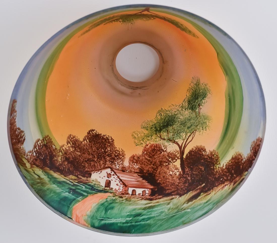 Arts & Crafts Reverse Painted Boudoir Lamp - 8