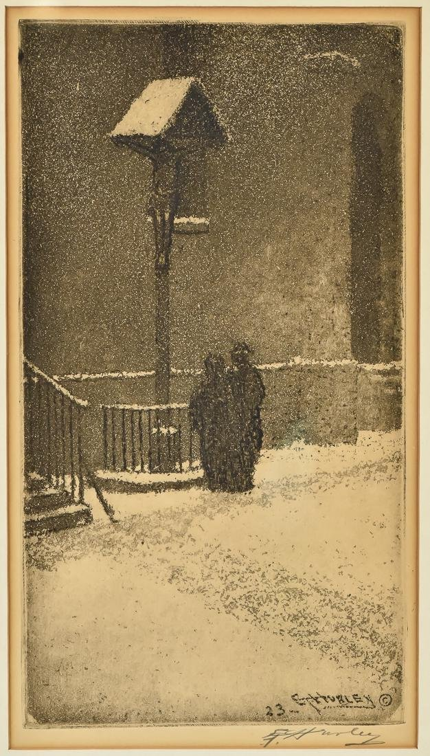 Edward T. Hurley Etching - 2