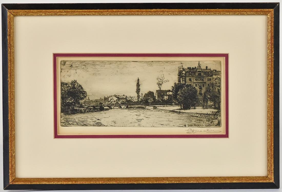 L.H. Meakin Signed Etching