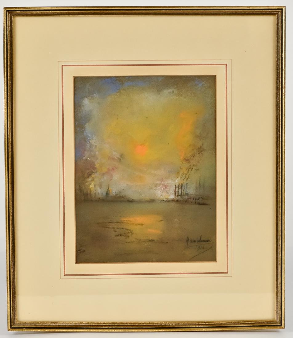 Glen C. Henshaw Pastel Industrial Landscape