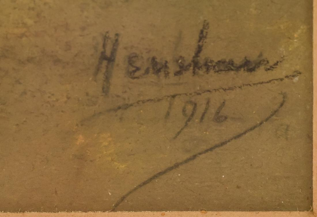 Glen C. Henshaw Pastel Industrial Landscape - 3