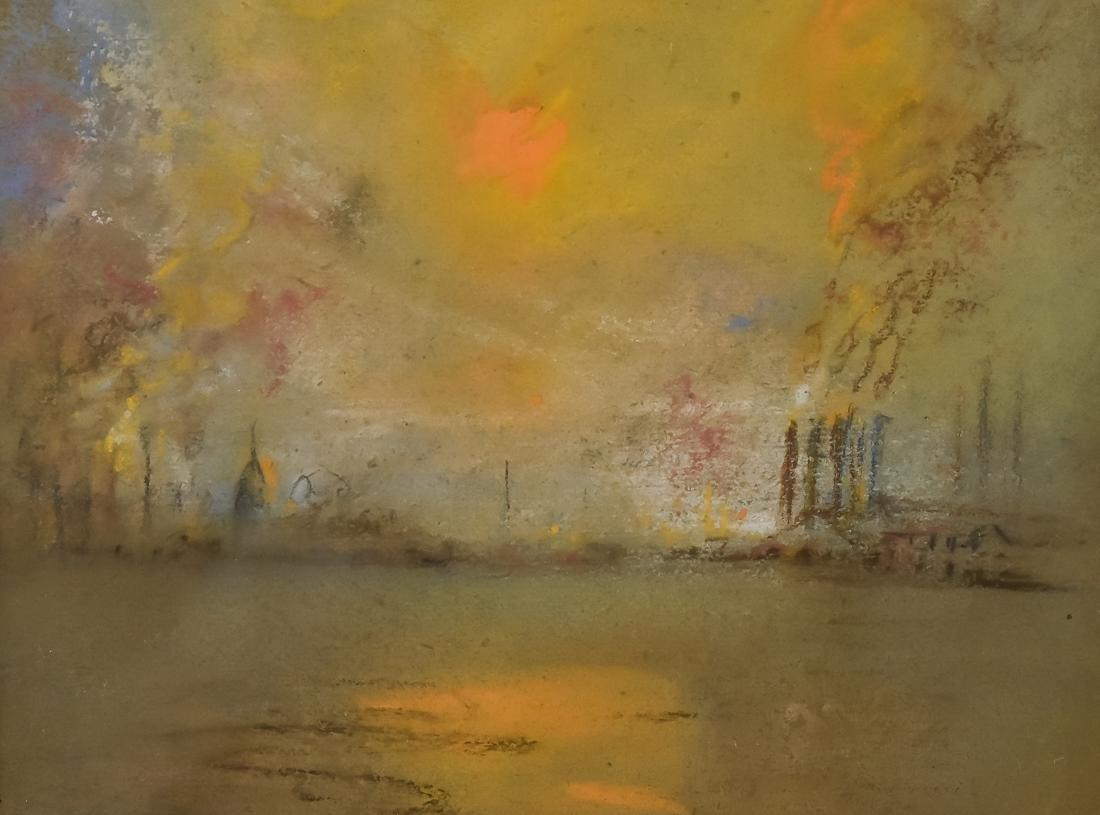 Glen C. Henshaw Pastel Industrial Landscape - 5