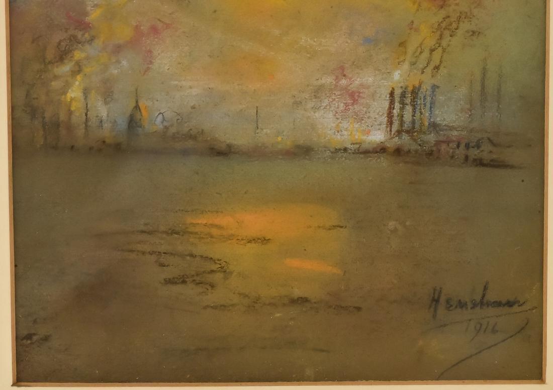 Glen C. Henshaw Pastel Industrial Landscape - 7