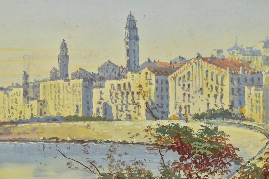 Hugo Gianni Gouache Italian Harbor Scene - 4