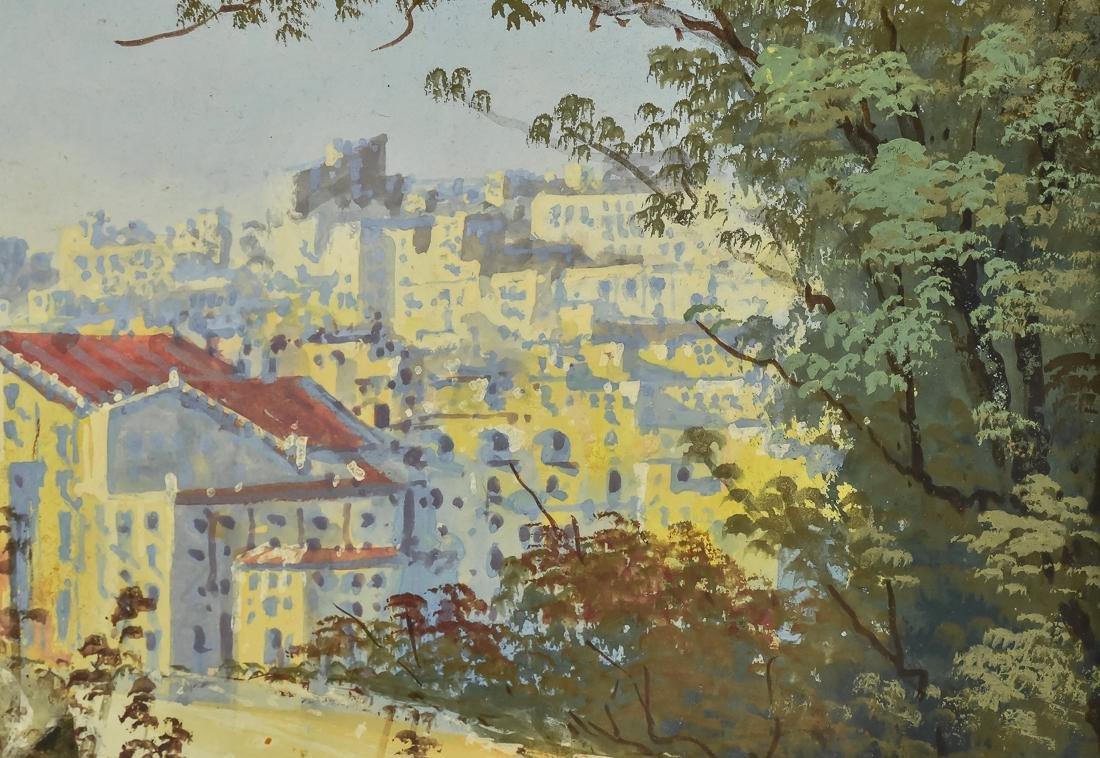 Hugo Gianni Gouache Italian Harbor Scene - 6