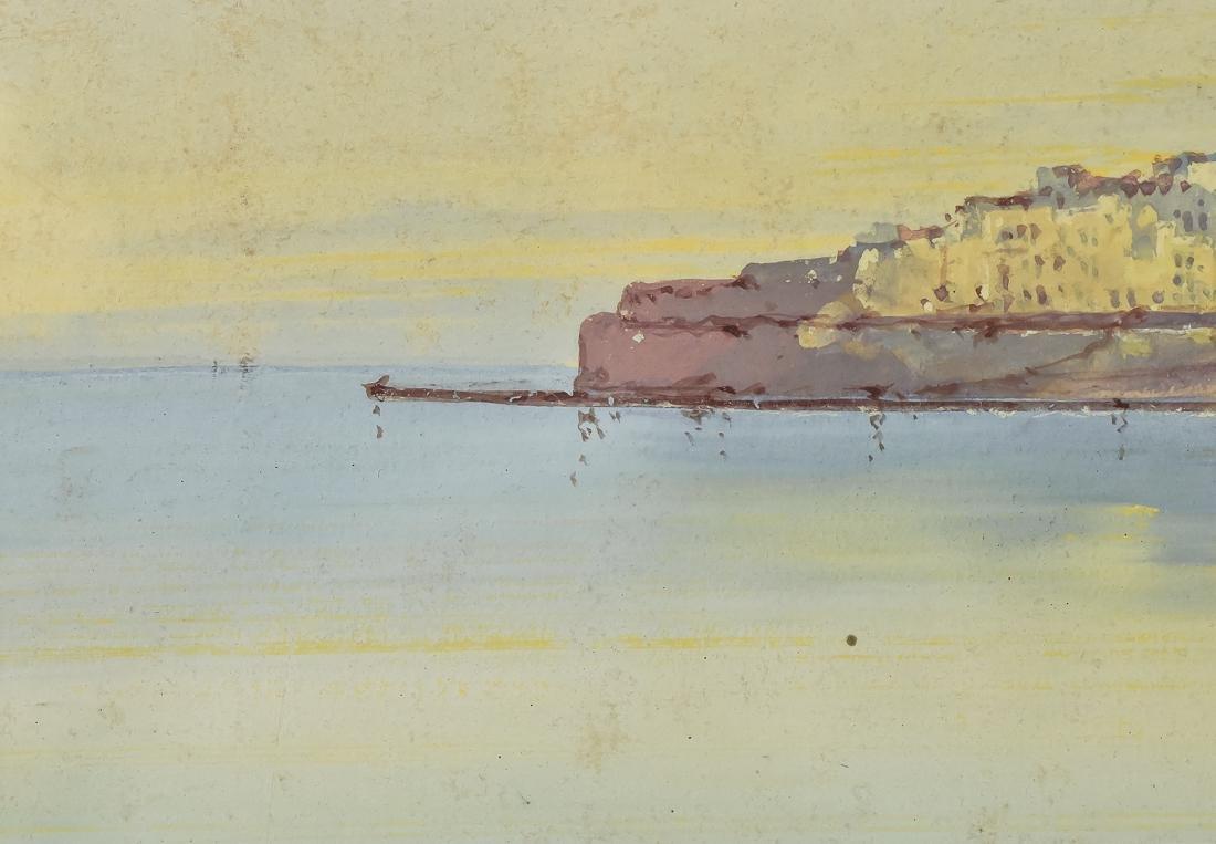 Hugo Gianni Gouache Italian Harbor Scene - 7