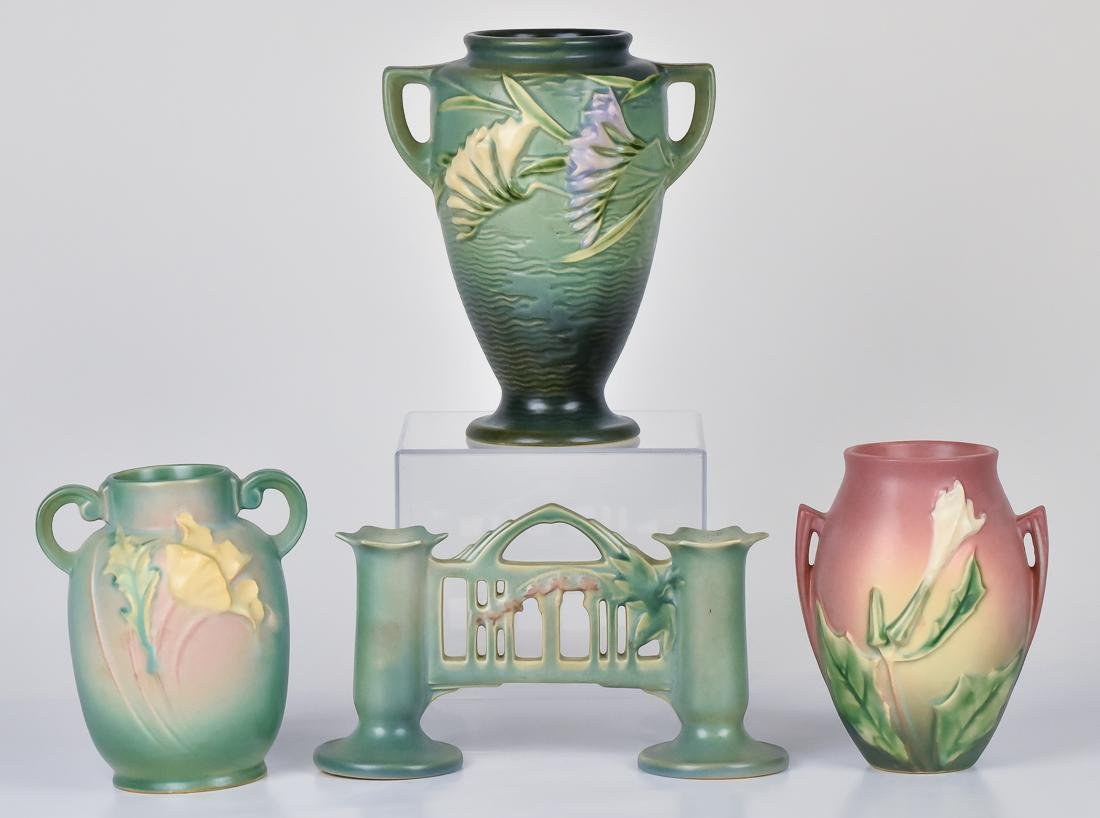 Four Pieces of Roseville Pottery