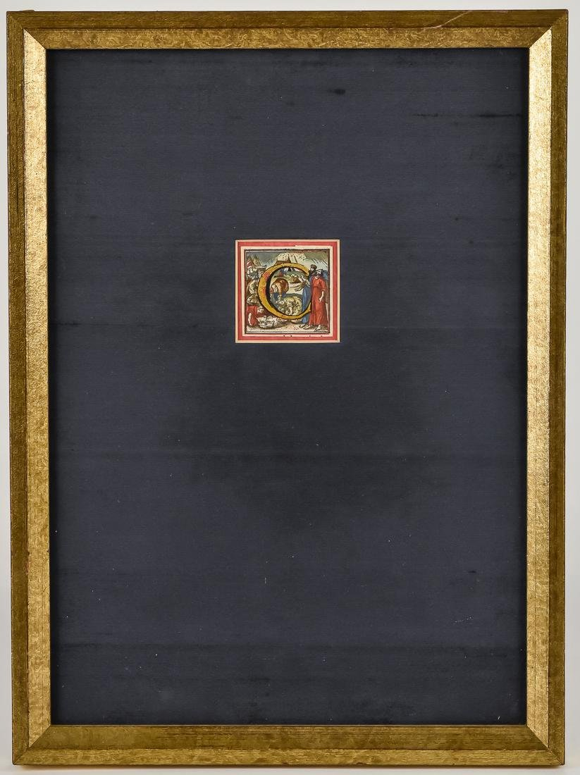 15th Century Illuminated Letter Block