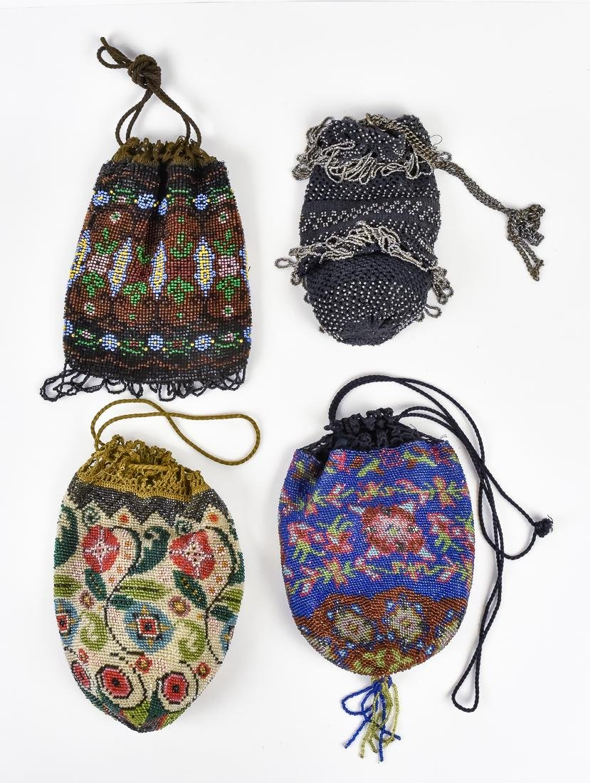 Four Early Ladies Beaded Evening Bags - 2