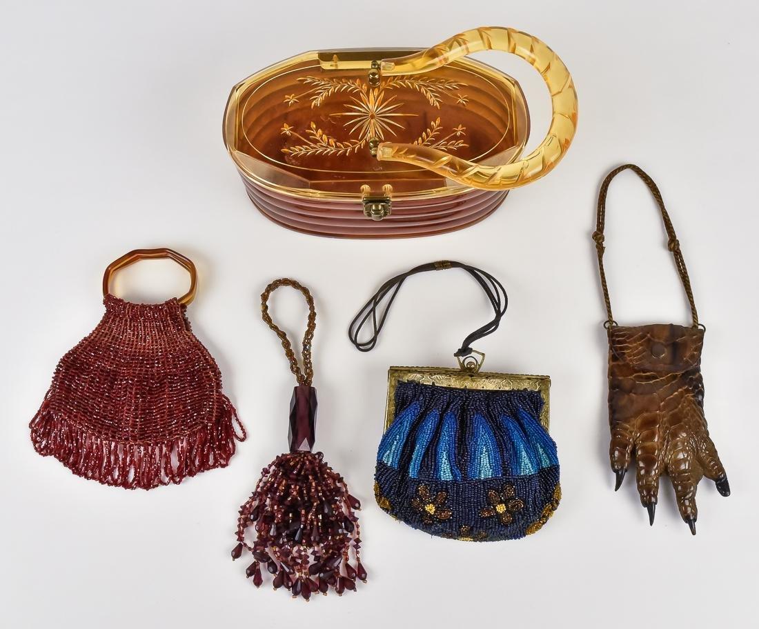 Five Beaded & Unusual Ladies Evening Bags