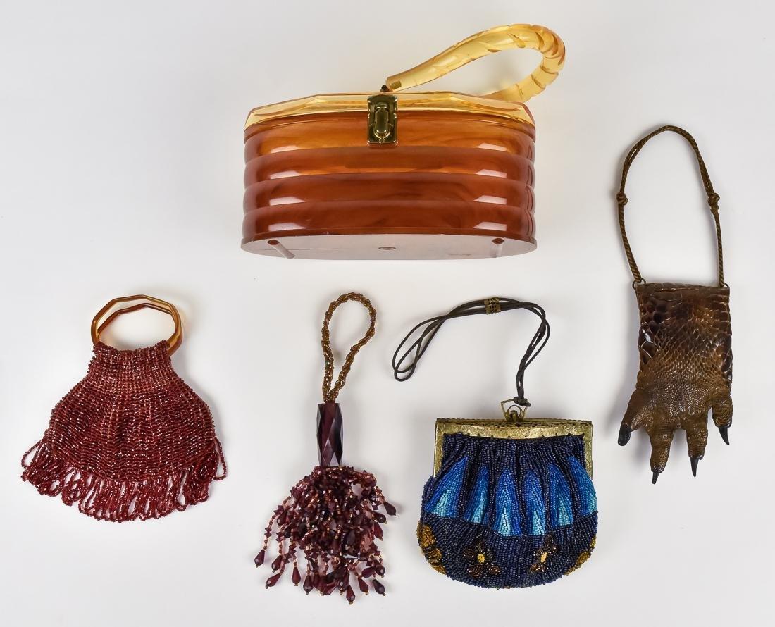 Five Beaded & Unusual Ladies Evening Bags - 2