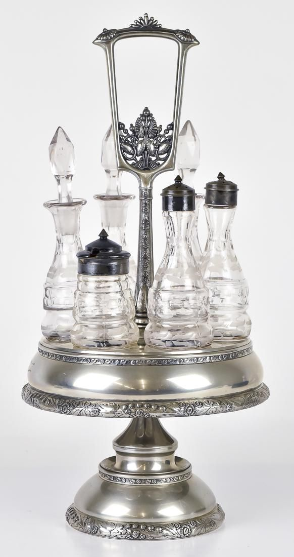 Victorian Silver Plated Caster Set