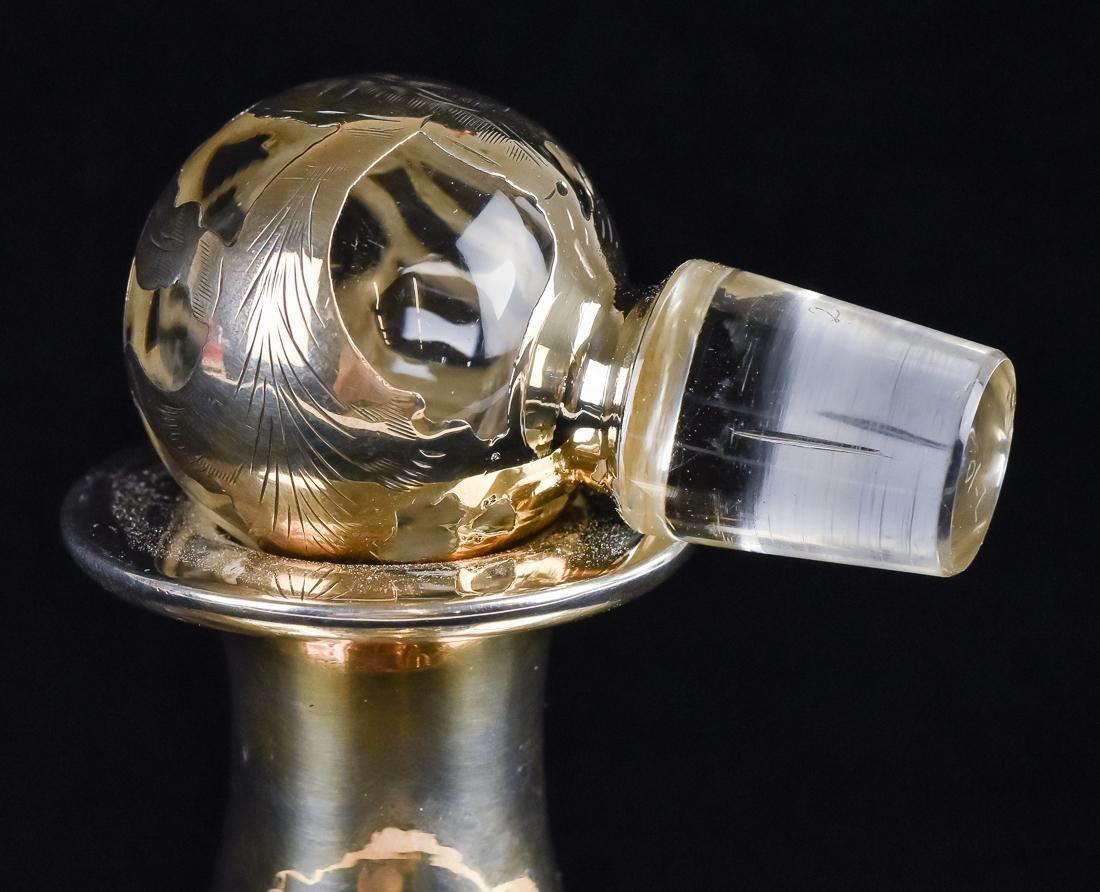 Silver Overlay Decanter - 5
