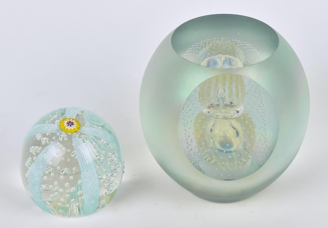 Art Glass Vase & Paperweights