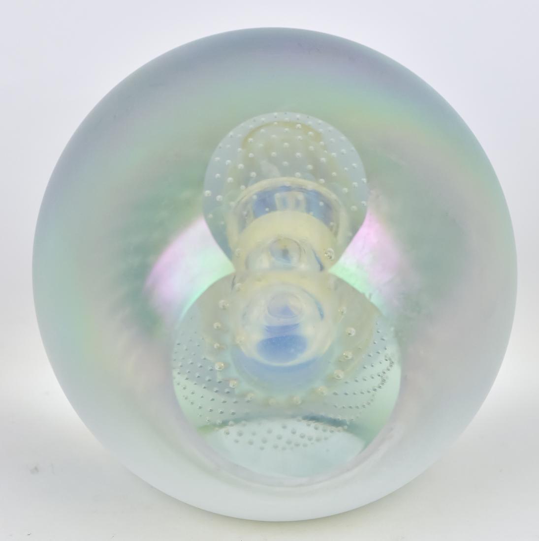 Art Glass Vase & Paperweights - 3