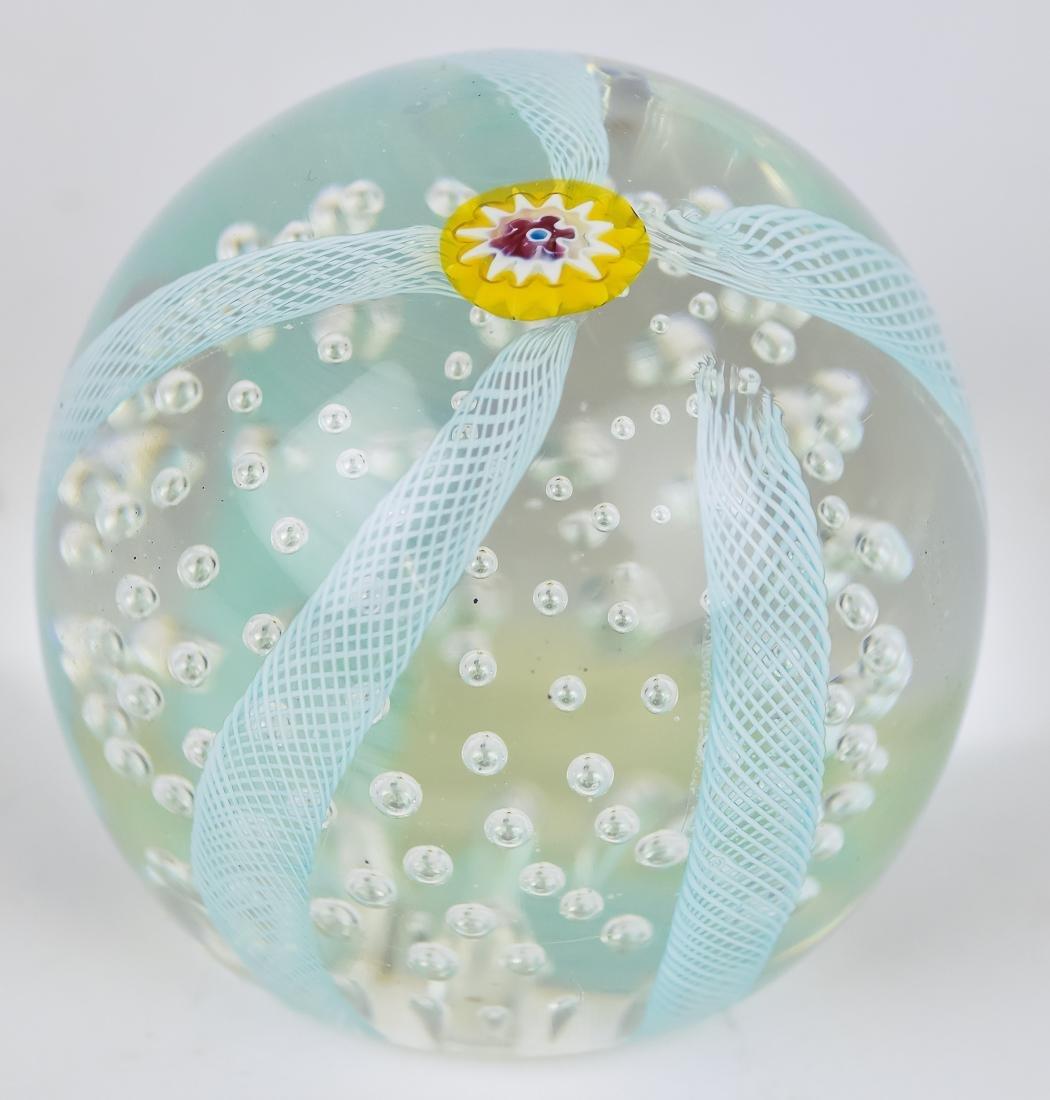 Art Glass Vase & Paperweights - 8