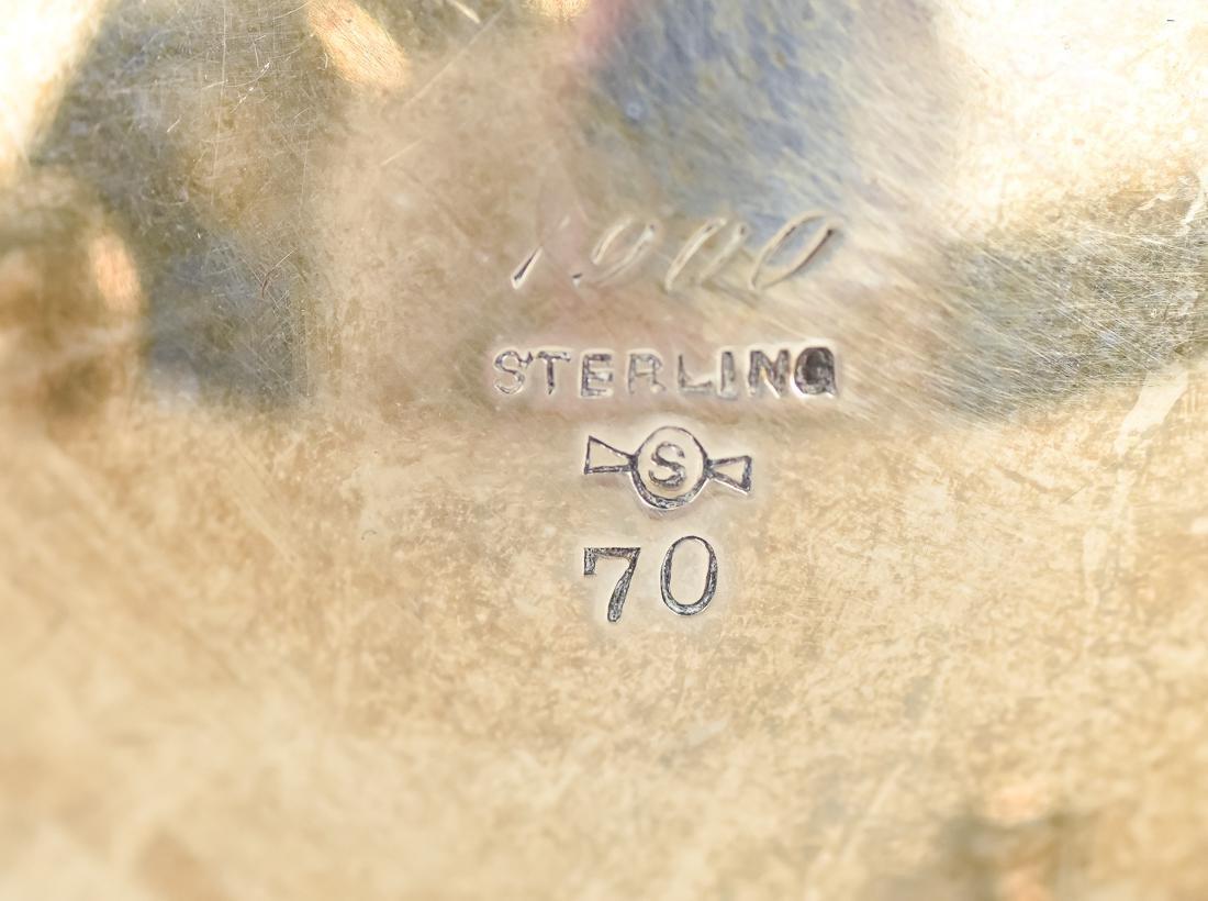 Sterling Footed Creamer & Sugar - 6